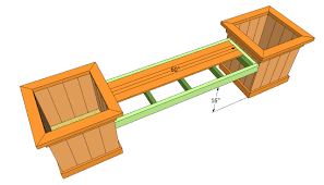 bench planter box bench plans buidling the bench frame work