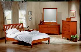 cheap bedroom set with light wooden themes standing divan small