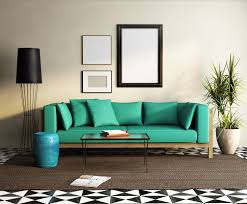 black and white furniture living room living room lime green fabric sofa white fur rug oval glass coffee