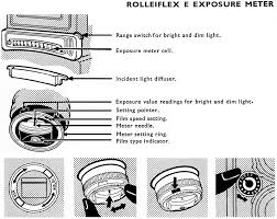 film camera light meter rolleiflex e and f series manual rollei tlr cameras