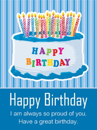 so proud of you happy birthday cake card for son birthday
