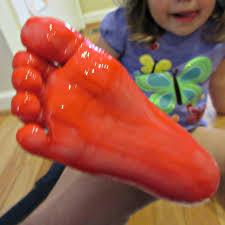 footprint ladybug crafts for kids
