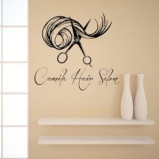 Vinyl Wall Stickers Custom Wall Decals Custom Logo Hair Beauty Salon Vinyl Sticker Girl Name