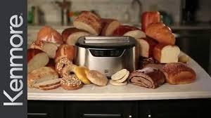 Elite Cuisine 4 Slice Toaster Oven Kenmore Elite 4 Slice Long Slot Toaster Youtube