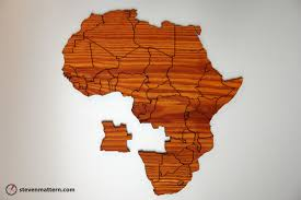 Africa Map Test by Steven Mattern Design Build Map Puzzles