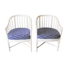 Outdoor Rattan Armchairs Gently Used Mcguire Furniture Up To 60 Off At Chairish