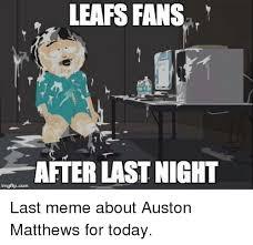 Disappointed Stick Man Imgflip - leafs fans after last night imgflipcom last meme about auston
