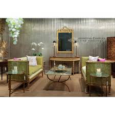 Demilune Console Table Gilded Demilune Console Table With Shelf Swanky Interiors