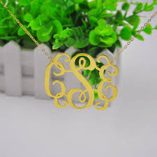 2 Inch Monogram Necklace Wholesale 2 5