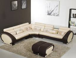setting contemporary sectional sofas in the living room