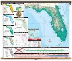 Map Of State Of Florida by Florida State Thematic Classroom Map On Spring Roller From Kappa Map
