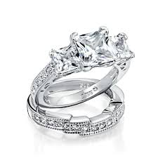 wedding ring sets for him and cheap wedding ring sets for cz sterling silver engagement ring sets