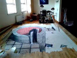 unfinished horror themed anamorphic drawing by maak410 on deviantart