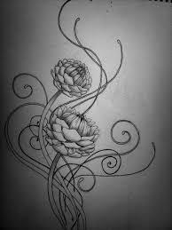 flower tattoo design by kirstynoelledavies deviantart com on