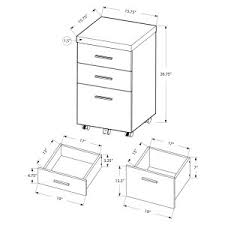 Black Filing Cabinet File Cabinets 16 To 21 Inches On Hayneedle File Cabinet Sizes