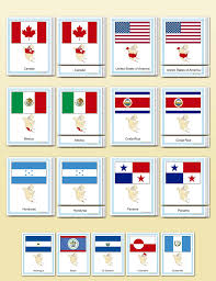 Books About Flags Flags Of North America Montessori Research And Development