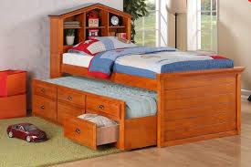 Single Bed With Storage And Trundle Bedroom Remarkable Wooden Bed Frames With Storage And Modern Look