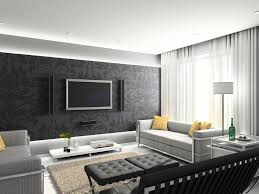 gorgeous black white grey living room decoration design ideas
