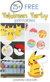 Free Printable Halloween Invitations Kids 25 Free Pokemon Party Printables Cutesy Crafts