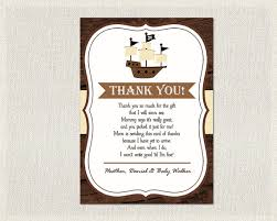 baby shower thank you notes pirate ship baby shower thank you card pirate ship brown pirate