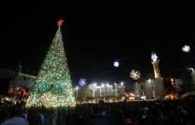 tree lighting in bethlehem haaretz