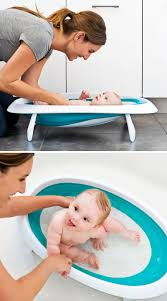 Baby Bath Tub With Shower Collapsible Baby Bathtub Recline Position Cradles Newborn