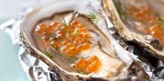 comment cuisiner des huitres huîtres en gelée facile recette sur cuisine actuelle