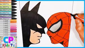 batman vs spiderman coloring pages batman vs spiderman coloring