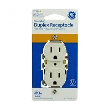 ge grounding duplex receptacle light almond pressure wiring