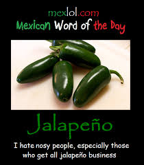 Spanish Word Of The Day Meme - mexican word of the day jalapeño