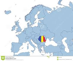 Romania Blank Map by Romania On Europe Map Stock Images Image 4291204