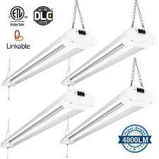linkable led shop lights 4ft 4800 lumens linkable led shop light led garage lights fixture