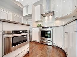 backsplash white shiny kitchen cabinets white kitchens ideal