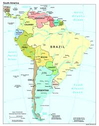 South America And Central America Map by Countries Profiled Information On Geography Government Economy