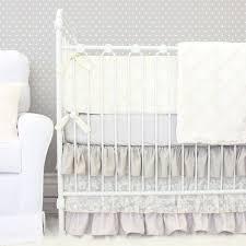 jacquelyn u0027s linen u0026 lace ruffle crib bedding caden lane