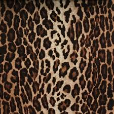 Upholstery Fabric For Curtains Safari Leopard Pile Velvet Upholstery Fabric By The Yard