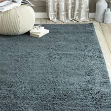 Solid Colored Rugs Steven Alan Solid Wool Shag Rug Blue Lagoon West Elm