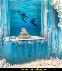 mermaid party ideas decorating theme bedrooms maries manor mermaid party