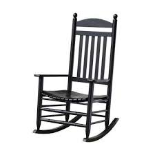 Patio Rocking Chairs Wood Wood Black Rocking Chairs Patio Chairs The Home Depot