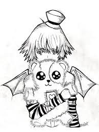 emo teddy bear coloring page emo ausmalbilder pinterest emo