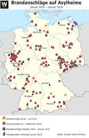 Map Of Hamburg Germany by Map Of Fire And Bomb Attack Against Refugee Camps In Germany 2015