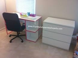 Malm Computer Desk Ikea Micke Desk And Malm Chest Of Drawers Assembled In Pittsburg