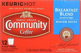 community coffee breakfast blend keurig k cups 12 count