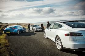 tesla model r tesla model s vs bmw m5 vs porsche panamera triple test review