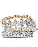 stackable wedding rings stacked engagement rings you ll martha stewart weddings