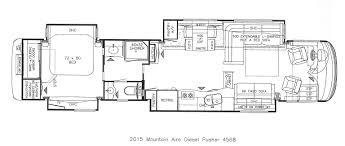 camper floor plans with bunk beds new newmar mountain aire luxury