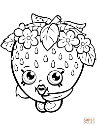 strawberry kiss shopkin coloring page free printable coloring pages