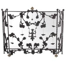 mackenzie childs mrs powers iron fireplace screen at 1stdibs