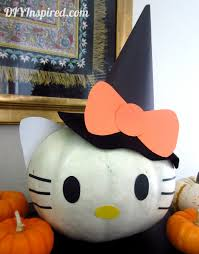 hello kitty pumpkin diy inspired