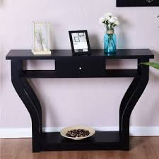 black sofa table with drawers black accent console table modern sofa entryway hallway hall